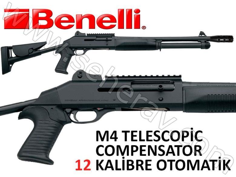 BENELLİ M4 TELESCOPİC STOCK COMPENSATOR MUZZLE BLACK 12 KALİBRE OTOMATİK